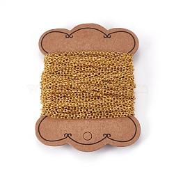 chaînes de câble de fer, non soudée, or, 3x4x0.7 mm(X-CHT002Y-G)