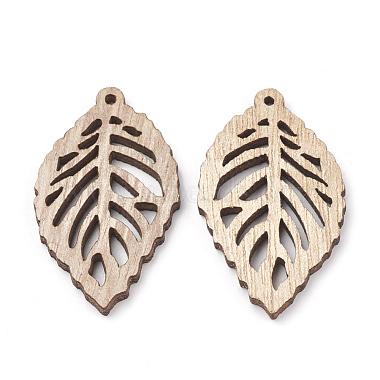 Undyed Wood Pendants(WOOD-T008-38)-2
