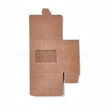 Kraft Paper Box, Square, BurlyWood, 80x80x40mm(CON-WH0032-D01)
