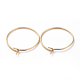 Golden 316 Surgical Stainless Steel Hoop Earring Findings(X-STAS-J025-01B-G)