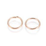 Rose Gold Ring Stainless Steel Open Jump Rings(STAS-E484-72L-RG)