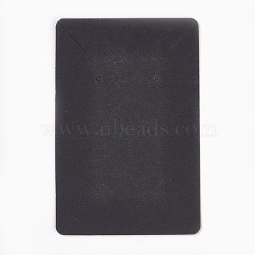 Cardboard Display Cards, Used For Necklace and Earring, Black, 9x6cm(X-CDIS-WH0005-04C)