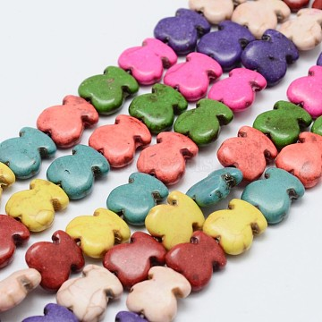 12mm Colorful Bear Howlite Beads