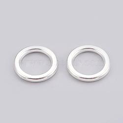 Anneaux de liaison en plastique CCB, anneau, argenterie, 21x3mm, environ 14 mm de diamètre intérieur(CCB-G006-108S)