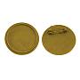 Antique Golden Alloy Brooch Base Settings(TIBE-S178-AG-NR)