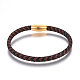 Leather Braided Cord Bracelets(BJEW-E352-28G)-1