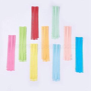 DIY Flower Paper Quilling Strips, DIY Origami Paper Hand Craft, Mixed Color, 35x3.7cm, 2pcs/color, 9colors/bag(DIY-WH0125-01)