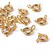 Золотые компоненты тон ювелирные изделия латунь кольцо весной пряжки(X-EC095-G)-2
