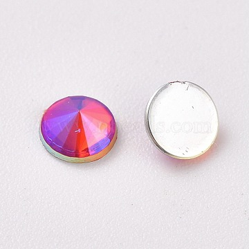 Acrylic Flat Back Rhinestone, AB Color, Cone, Colorful, 5.5x2.5mm; about 100pcs/Bag(OACR-WH0003-05B-01)