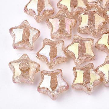 16mm DarkSalmon Star Acrylic Beads
