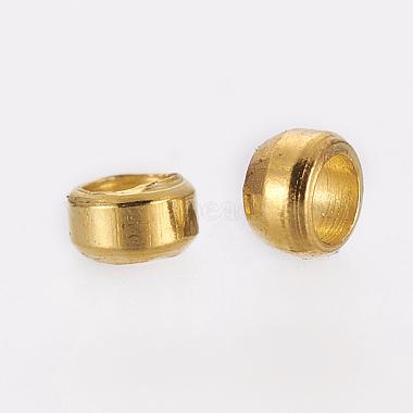 Brass Crimp Beads(E002-G-NR)-3