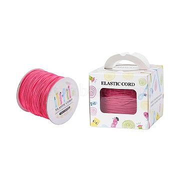 Elastic Cord, with Nylon Outside and Rubber Inside, Round, Light Coral, 1mm; 109.36yards/roll(100m/roll)(EC-JP0003-1mm-017A)