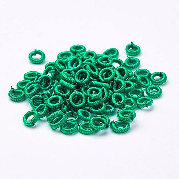 6mm LightSeaGreen Ring Polyester Beads