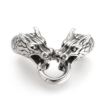 Antique Silver Dragon Stainless Steel Clasps