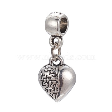 23mm Heart Alloy Dangle Beads