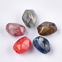 Mixed Color Polygon Acrylic Beads(X-OACR-T011-111)