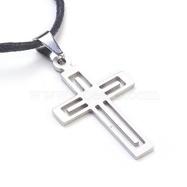 304 Stainless Steel Pendant Necklaces(NJEW-JN02174-02)-3