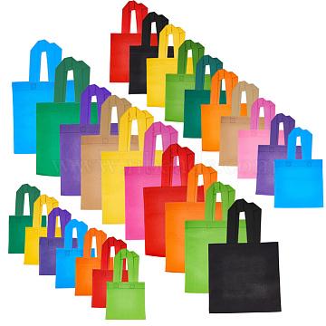 PandaHall Elite Eco-Friendly Reusable Bags, Non Woven Fabric Shopping Bags, Mixed Color, 27pcs/set(ABAG-PH0002-22)