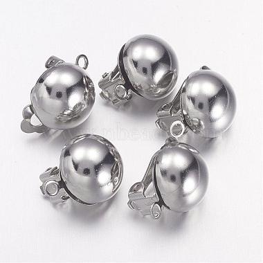 Серьги-клипсы из платиновой латуни для украшения ушей без пирсинга(X-KK-E031-N)-1