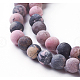 Frosted Natural Rhodonite Round Bead Strands(G-E487-12-8mm)-2