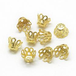 Golden Iron Bead Caps(X-IFIN-S696-45G)