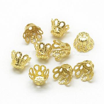 Golden Iron Bead Caps