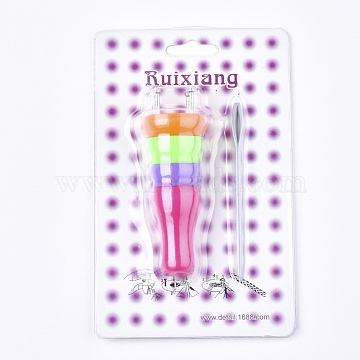 Knitting Loom for Yarn Cord Knitter, Colorful, 95x33mm(X-TOOL-T006-26)