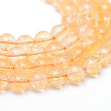 6mm Round Citrine Beads