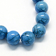 Dyed Synthetic Turquoise Gemstone Bead Strands(TURQ-R032-8mm-XSS26)-2