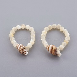 Спиральная оболочка и обручальные кольца, с окрашенной в окружающую среду проволокой из эластичного волокна, Размер 12, 22 мм(RJEW-JR002231-06)