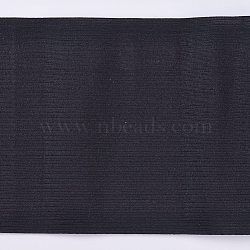 Flat Elastic Rubber Band, Webbing Garment Sewing Accessories, for Sewing Waistband Elastic, Black, 150mm; 3m/strand(OCOR-WH0032-39A-01)