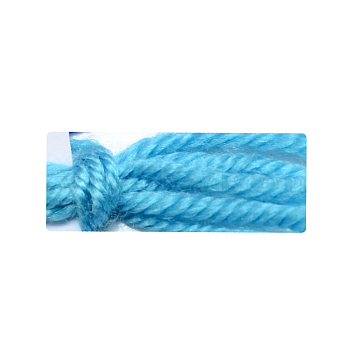 2mm DeepSkyBlue Cashmere+Orlon+PAN Fiber Thread & Cord