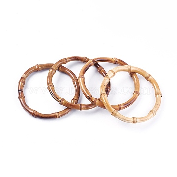 Wood Bag Handle, Bamboo Ring, 121~124x12~14mm(FIND-WH0043-26)