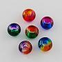 Mixed Color Rondelle Glass Beads(X-DGLA-R016-8mm-M)