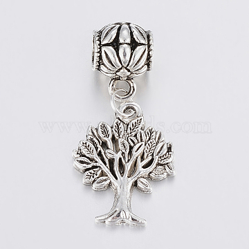 37mm Tree Alloy Dangle Beads