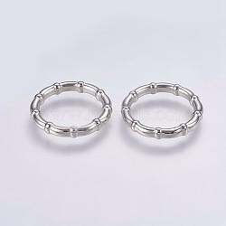 Anneaux de liaison en plastique CCB, anneau, platine, 24x4mm, environ 18 mm de diamètre intérieur(CCB-G006-138P)