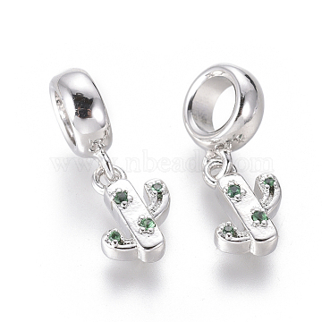 20mm Green Others Brass+Cubic Zirconia Dangle Beads