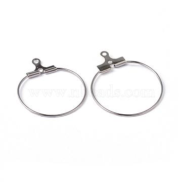 Platinum Brass Earring Hoop