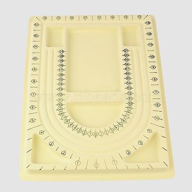 LightYellow Plastic Bead Design Boards