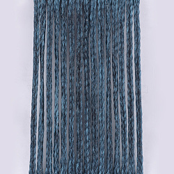Eco-Friendly Waxed Polyester Cord, Dark Slate Gray, 1mm, about 109.36 yards(100m)/roll(YC-Q003-129)