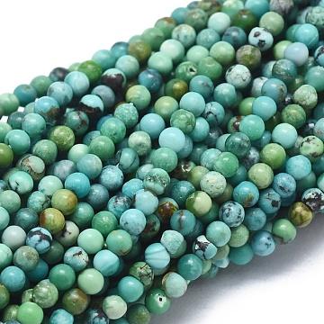 2mm Round HuBei Turquoise Beads