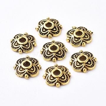 Antique Golden Alloy Bead Caps