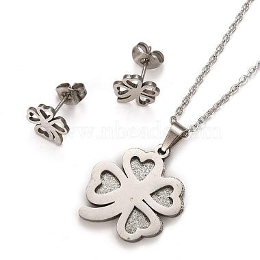 304 Stainless Steel Stud Earrings & Necklaces