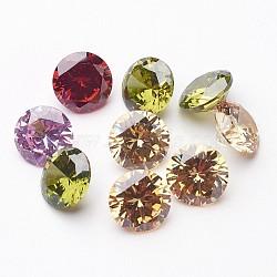 10 pièces mélangées classent des cabochons en forme de diamant en zircone, facettes, 9x5.3 mm(X-ZIRC-M002-9mm)
