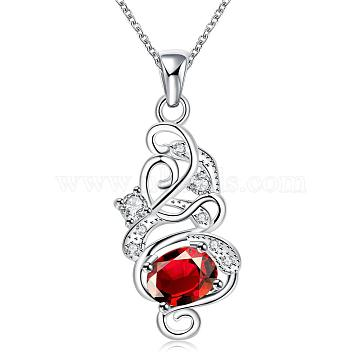 Red Cubic Zirconia Necklaces