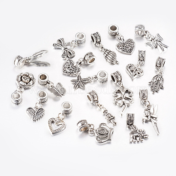 22mm Mixed Shapes Alloy Dangle Beads