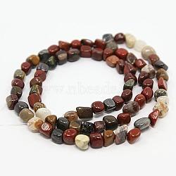"""Brins en pierres précieuses, pierre picasso / jaspe picasso, les perles environ 3~5 mm; trou: 0.8 mm; 15.5"""", 82 pcs / chapelet(G365-18)"""
