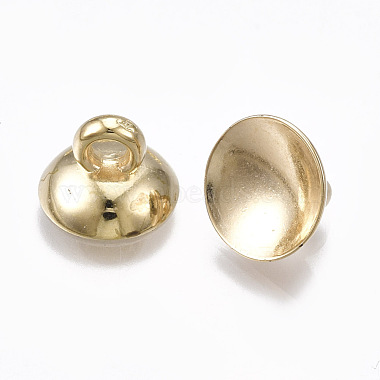 CCB Plastic Bead Cap Pendant Bails(CCB-T006-098KC)-2