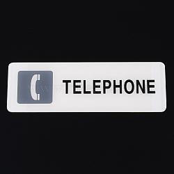 Знак уведомления о смоле, разрешить телефон, прямоугольные, белые, 18x6x0.2 см(AJEW-K015-D01)