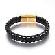 Leather Cord Bracelets(BJEW-E352-11B-G)-1